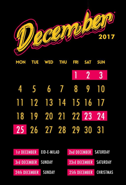 Dicember Long Wekend 2017