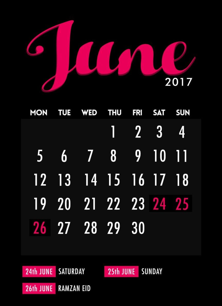 June Long Wekend 2017