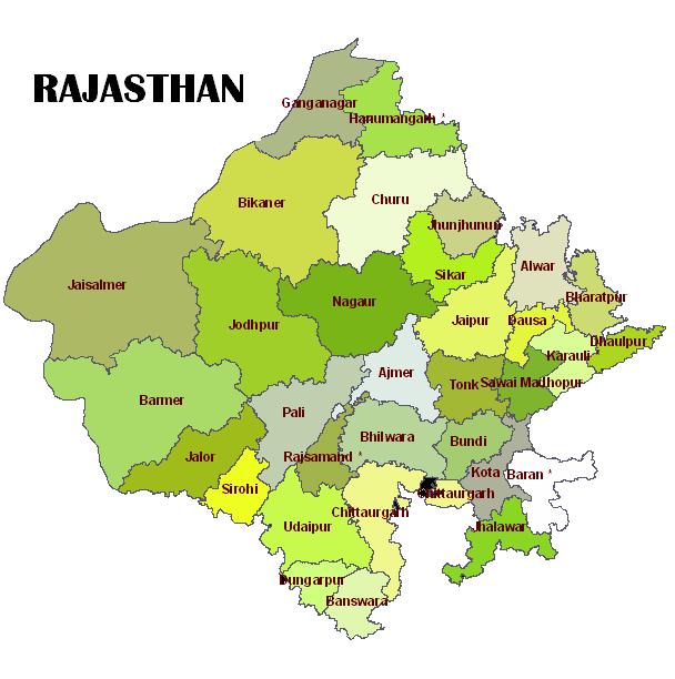 RAJASTHAN MAPE
