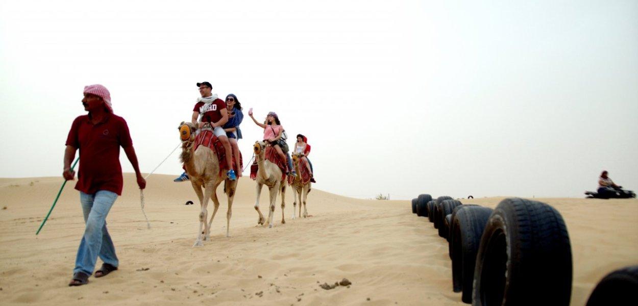 duba desert camel ride
