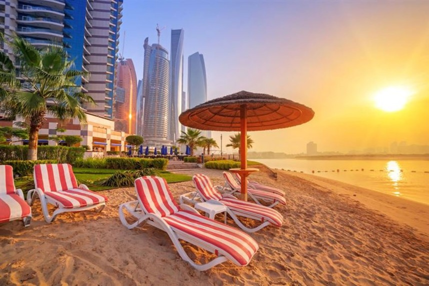 The beach near Sharjah
