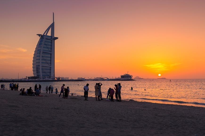 white sandy beaches in Dubai