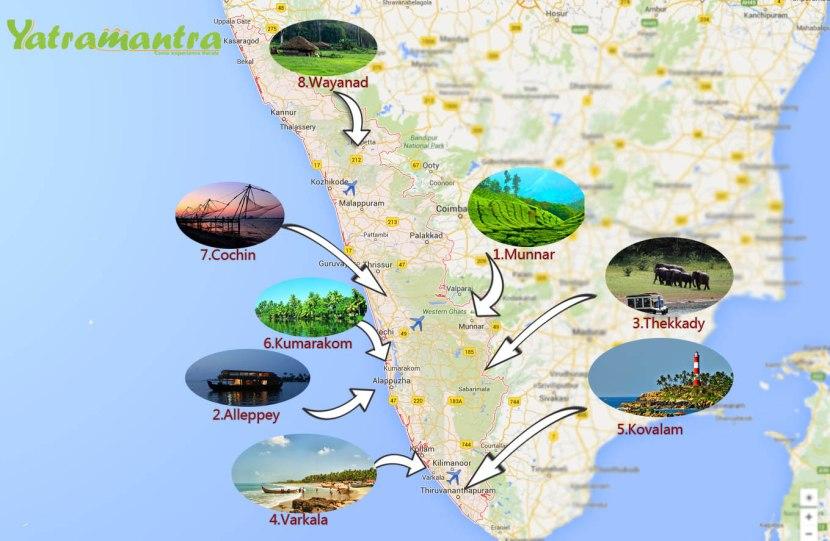 Get route plan in Kerala